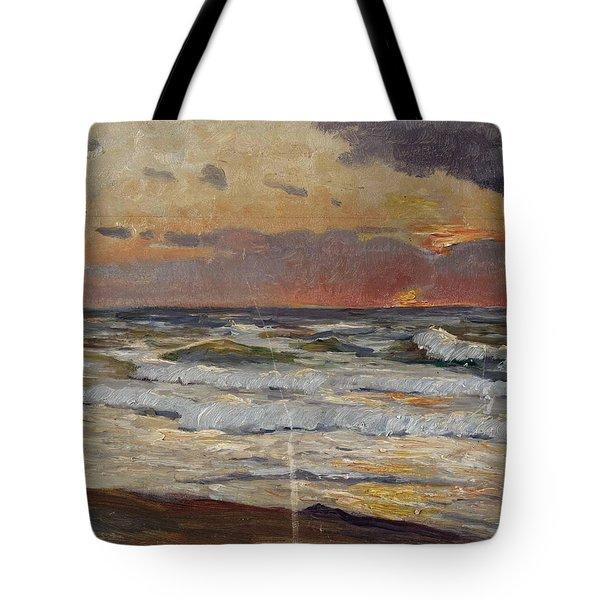 Sunset On The Baltic Sea Tote Bag