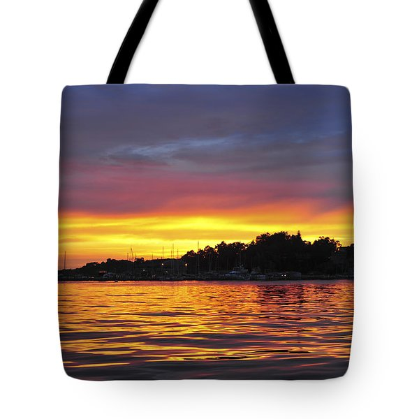 Sunset On The Bay Island Heights Nj Tote Bag
