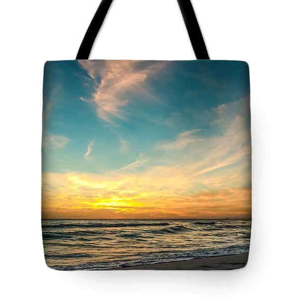 Sunset On The Beach Tote Bag by Phillip Burrow