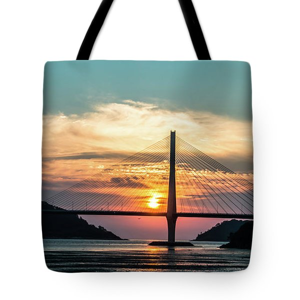 Sunset On The Bridge Tote Bag