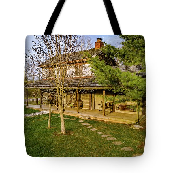 Sunset On The Cabin Tote Bag