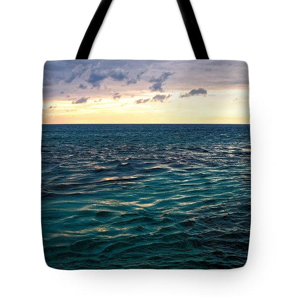 Sunset On The Caribbean Tote Bag
