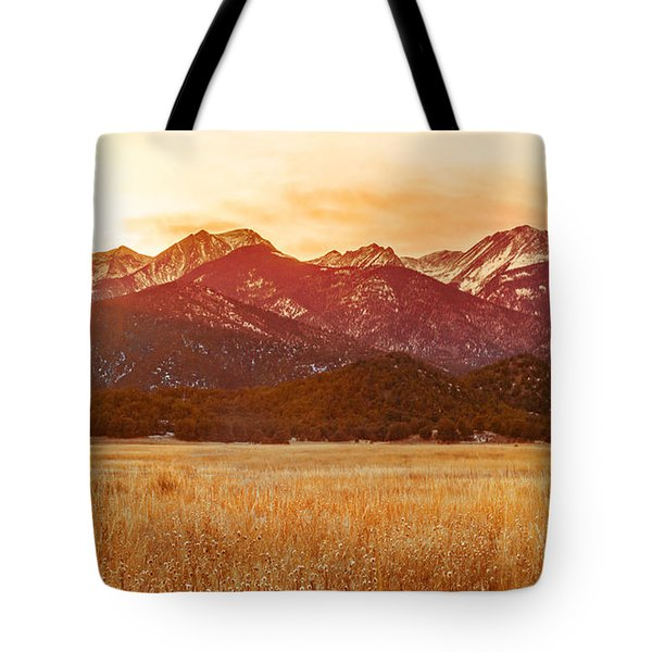 Sunset On The Continental Divide Tote Bag
