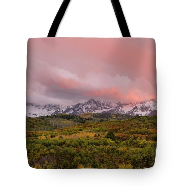 Sunset On The Dallas Divide Ridgway Colorado Tote Bag