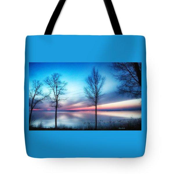 Sunset On The Diagonal Tote Bag