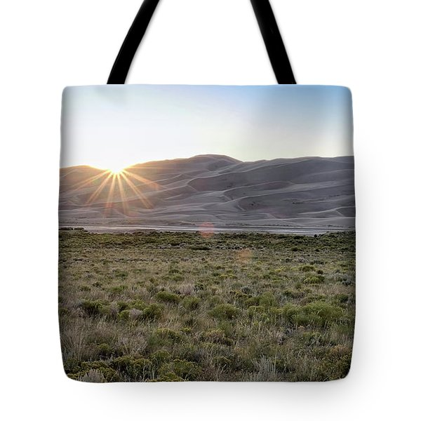 Tote Bag featuring the photograph Sunset On The Dunes by Monte Stevens