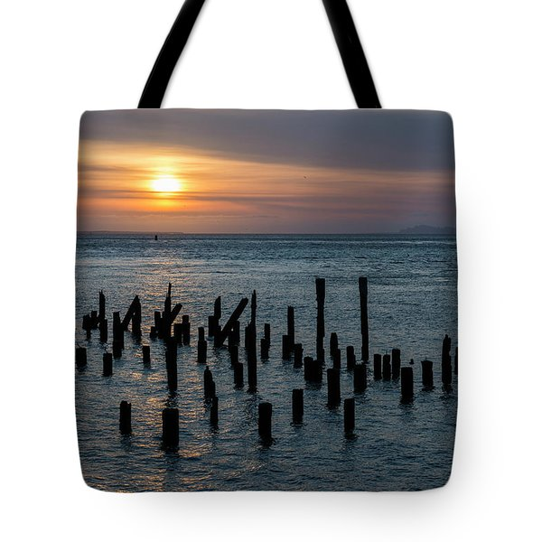 Sunset On The Empire Tote Bag