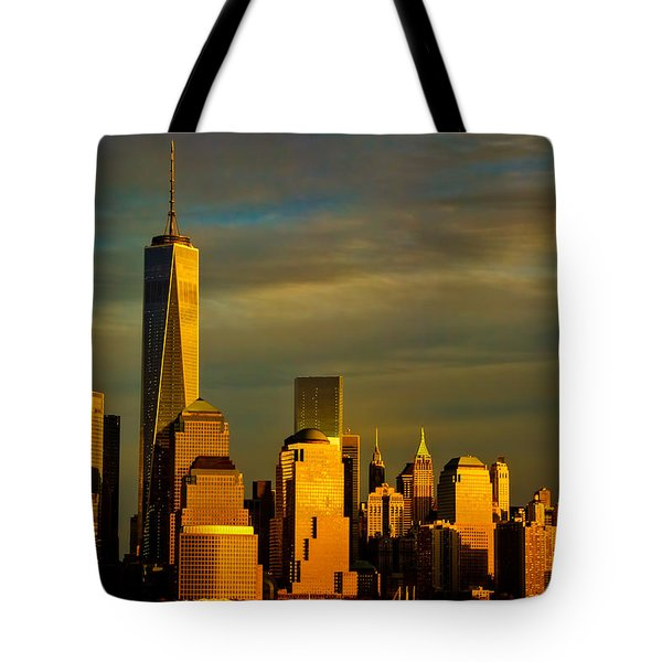Sunset On The Financial District Tote Bag