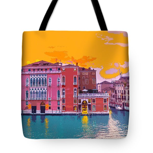 Sunset On The Grand Canal Venice Tote Bag