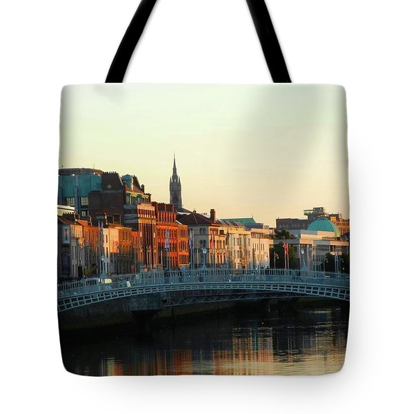 Sunset On The Ha'penny Tote Bag