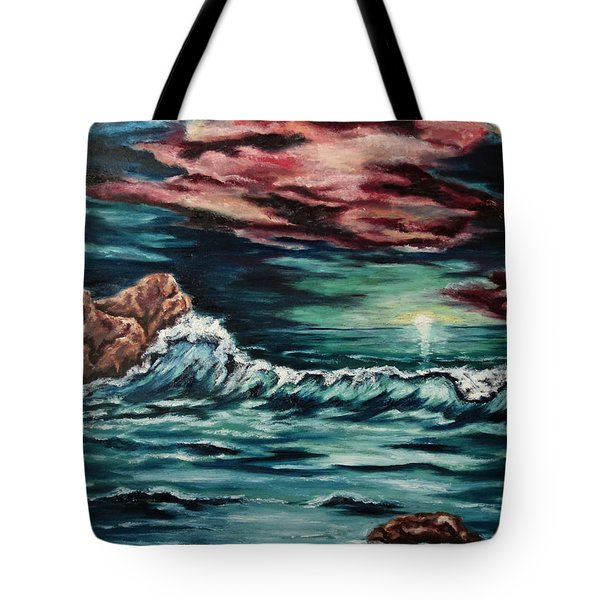 Sunset On The Horizon Tote Bag