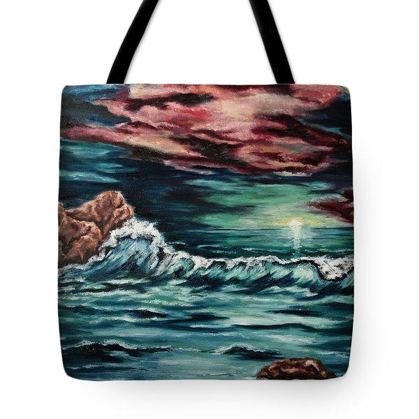 Sunset On The Horizon Tote Bag by Cheryl Pettigrew