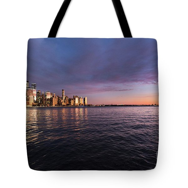 Sunset On The Hudson River Tote Bag