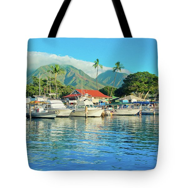 Sunset On The Marina Lahaina Harbour Maui Hawaii Tote Bag