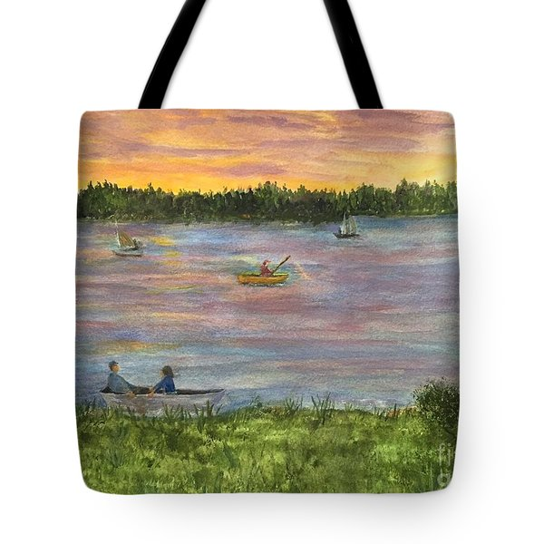 Sunset On The Merrimac River Tote Bag