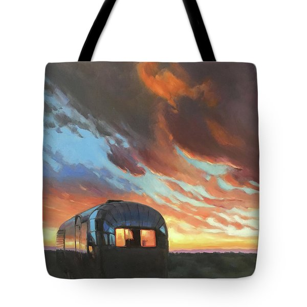 Sunset On The Mesa Tote Bag