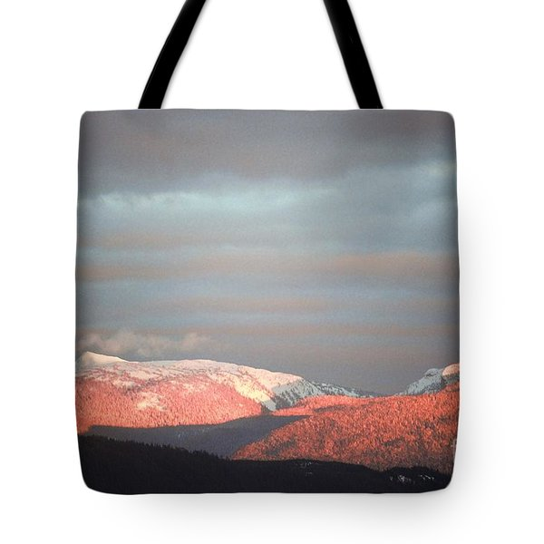 Sunset On The Monashees Tote Bag