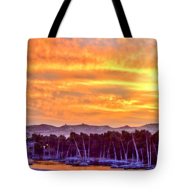 Sunset On The Nile Tote Bag