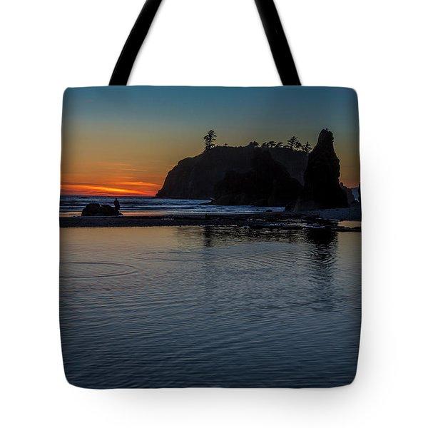 Sunset On The Oregon Coast Tote Bag
