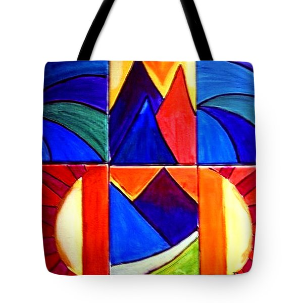 Sunset On The Peaks Tote Bag