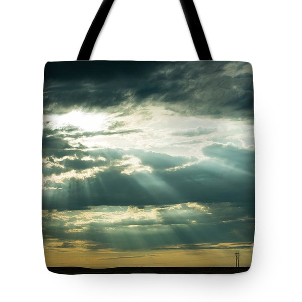 Tote Bag featuring the photograph Sunset On The Plains by MaryJane Armstrong