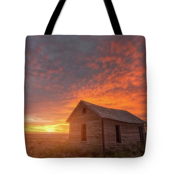 Sunset On The Prairie  Tote Bag by Darren White