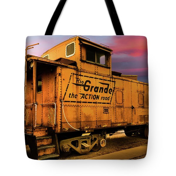 Sunset On The Rio Grande Tote Bag