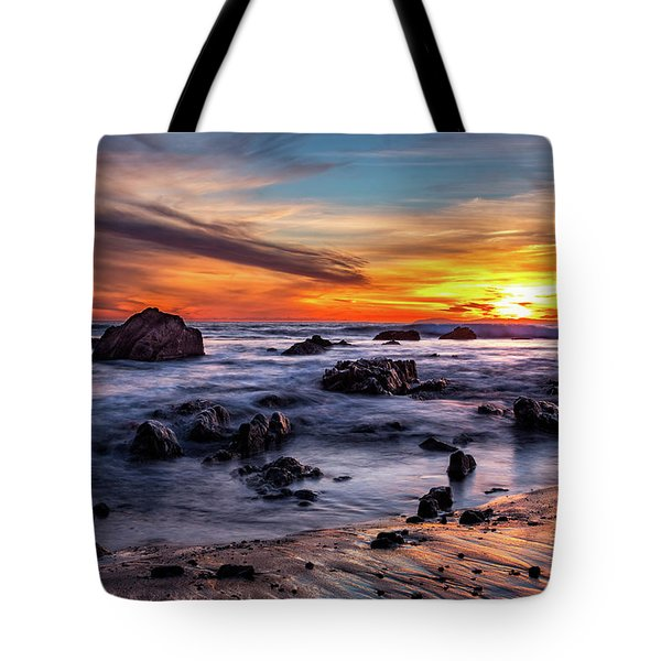 Tote Bag featuring the photograph Sunset On The Rocks by Jason Roberts