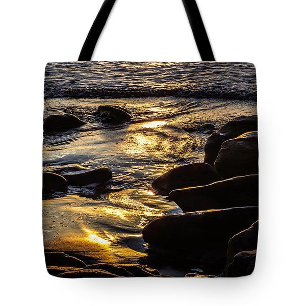 Sunset On The Rocks Tote Bag