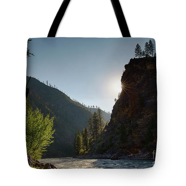 Sunset On The Salmon Tote Bag