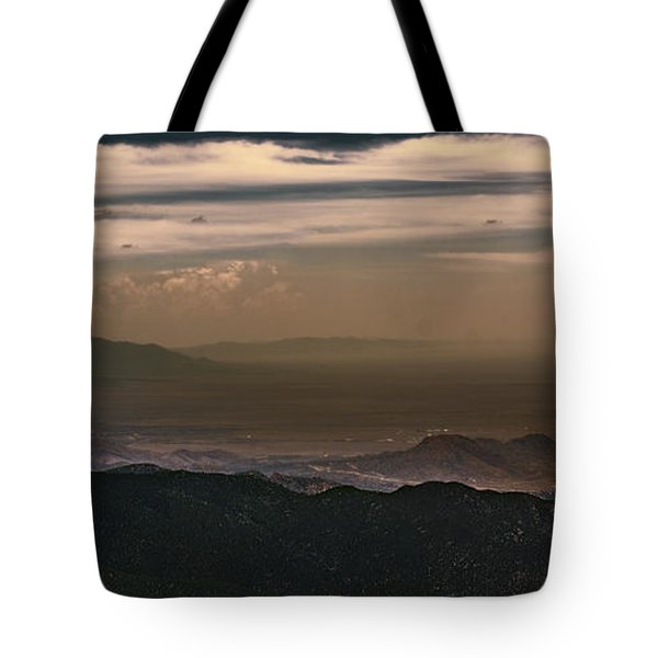 Sunset On The Sandias Tote Bag
