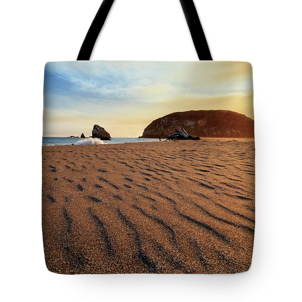 Tote Bag featuring the photograph Sunset On The Sands Of Brookings by James Eddy