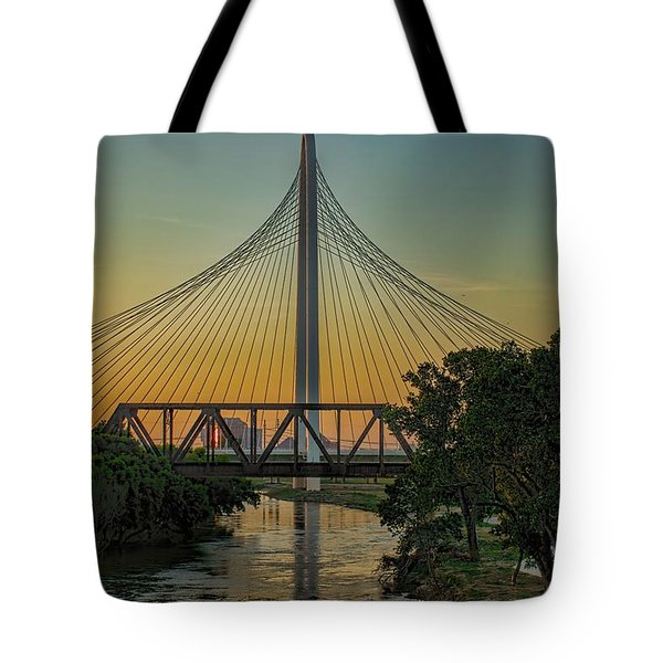 Sunset On The Trinity Tote Bag