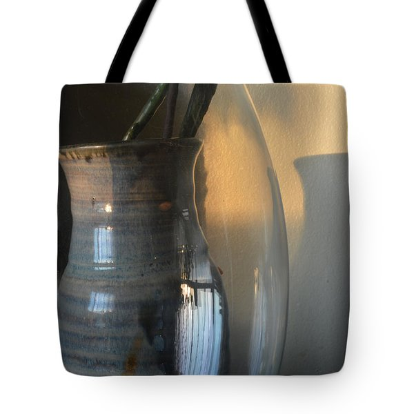 Sunset On The Wall  Tote Bag by Lyle Crump