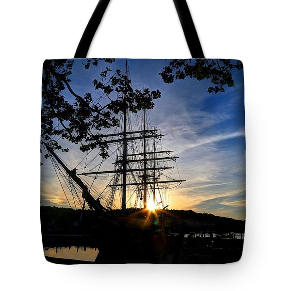Sunset On The Whalers Tote Bag