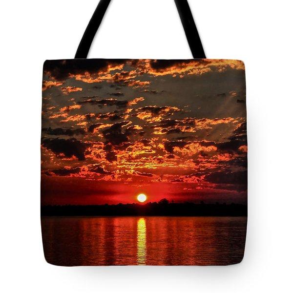 Sunset On The Zambezi Tote Bag