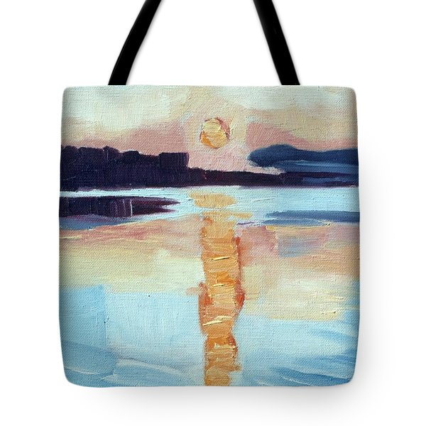 Sunset On Vancouver Island Tote Bag