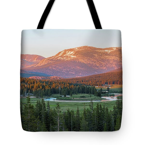 Sunset On Yosemite's Meadows Tote Bag