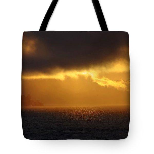 Sunset Over Alcatraz Tote Bag