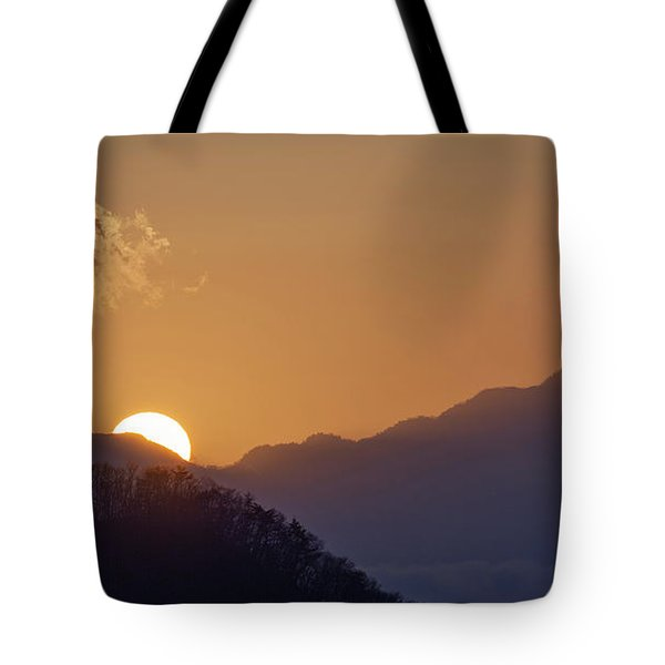 Tote Bag featuring the photograph Sunset Over Asia  by Rikk Flohr