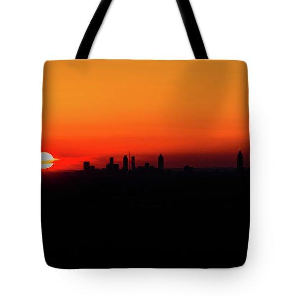 Sunset Over Atlanta Tote Bag