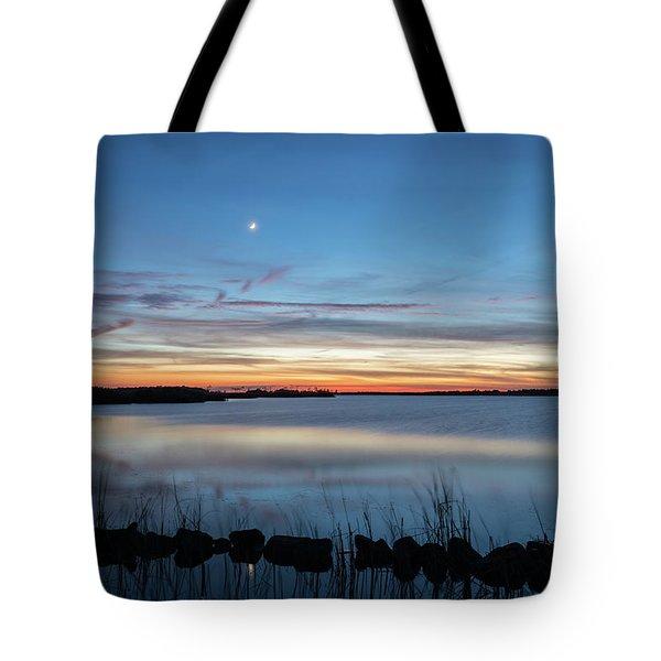 Sunset Over Back Bay Tote Bag
