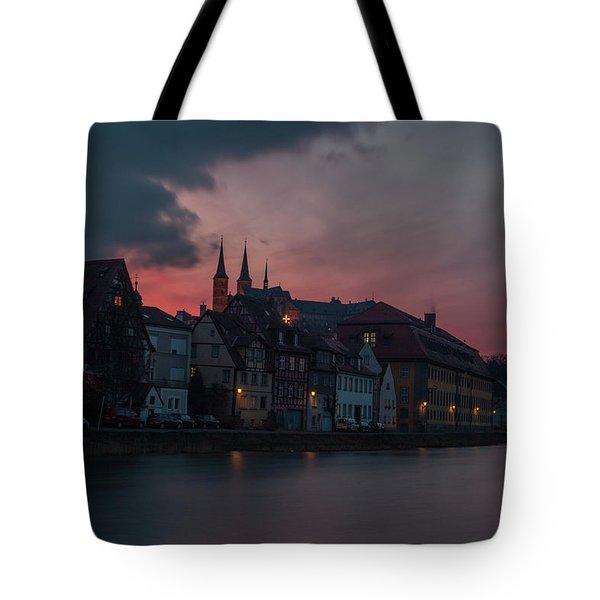 Sunset Over Bamberg Tote Bag