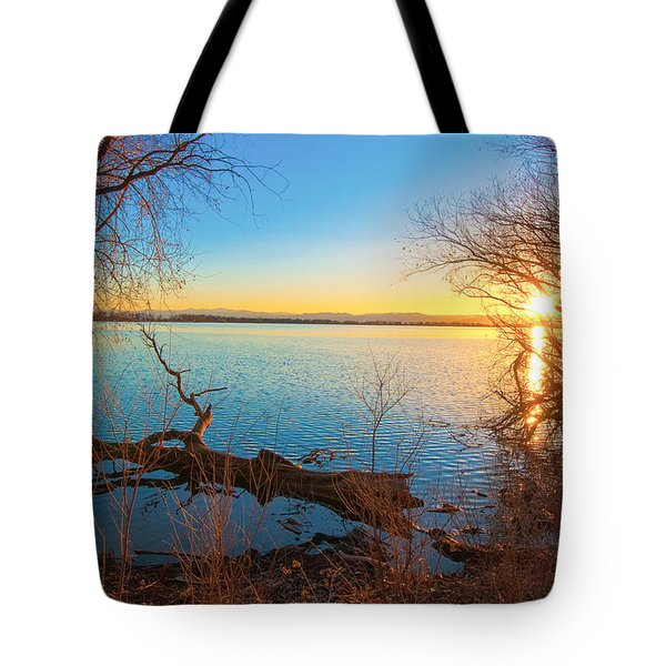 Sunset Over Barr Lake Tote Bag