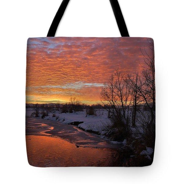 Sunset Over Bountiful Lake Tote Bag