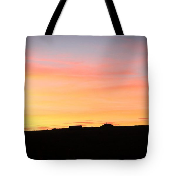 Sunset Over Cairnpapple Tote Bag
