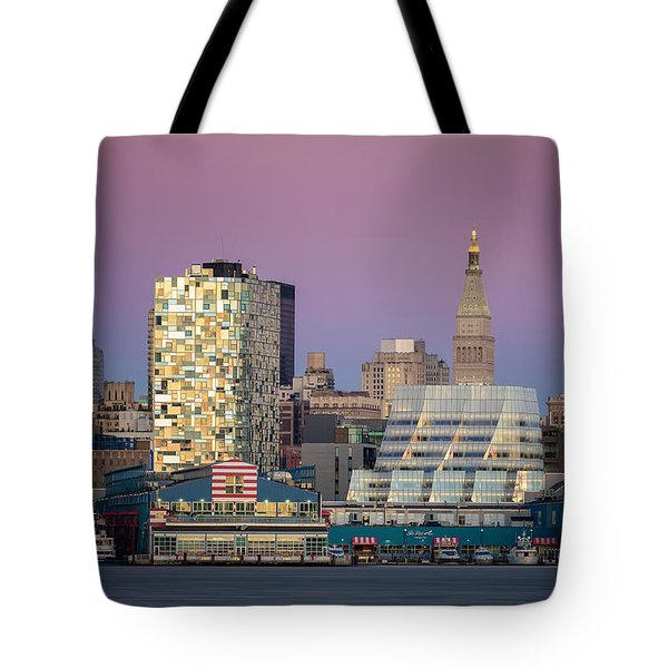 Tote Bag featuring the photograph Sunset Over Chelsea by Eduard Moldoveanu