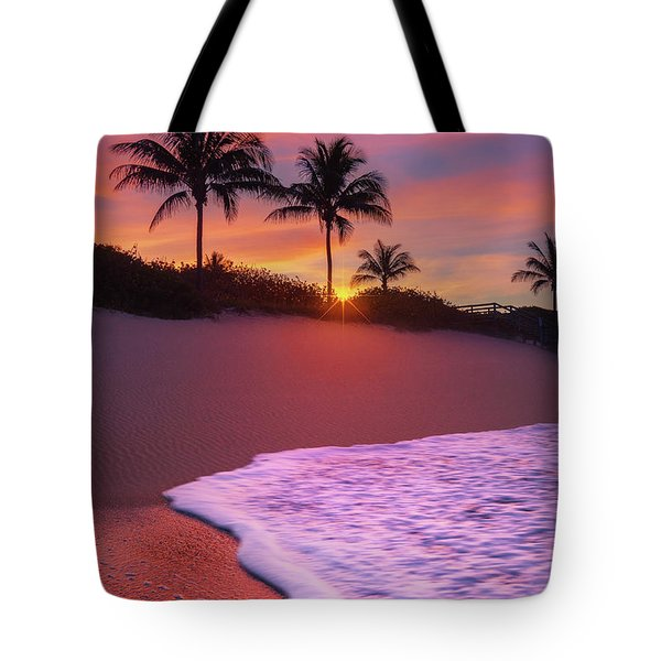 Tote Bag featuring the photograph Sunset Over Coral Cove Park In Jupiter, Florida by Justin Kelefas