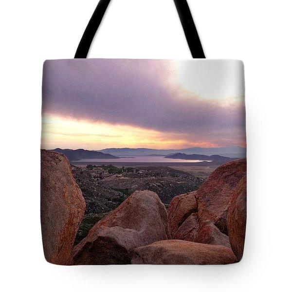 Sunset Over Diamond Valley Lake Tote Bag