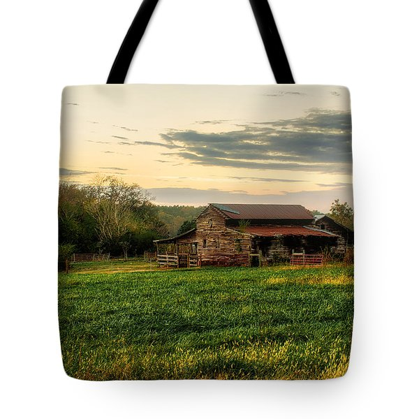 Tote Bag featuring the photograph Sunset Over Dogwood Ridge by Mark Guinn